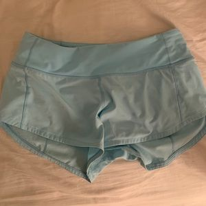 Lululemon speed shorts size 2 rare blue color